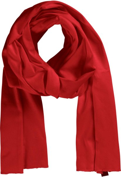 Fairtrade Schal aus Bio-Baumwolle - red