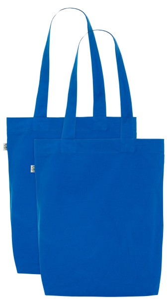 Organic Cotton Bag (Doppelpack) bright blue