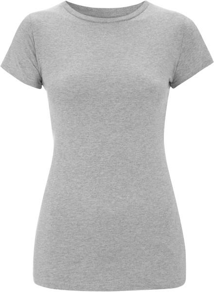 Organic Slim-Fit T-Shirt grau meliert - Bild 1