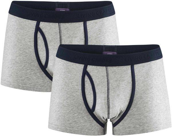 Boxershorts aus Bio-Baumwolle - Doppelpack - stone grey