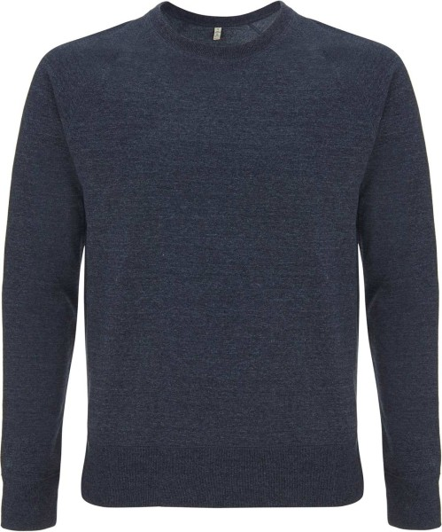 Recycled Unisex Sweatshirt Baumwolle und Polyester - melange navy