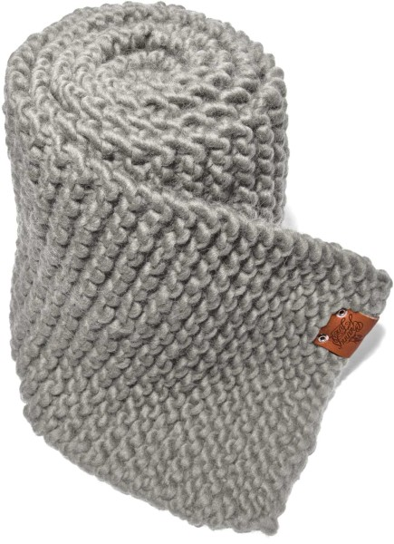 Strickschal aus Schurwolle - kiezelgrijs