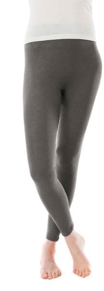 Leggings - Wolle/Seide charcoal - Bild 1