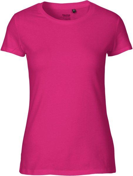Fitted T-Shirt aus Fairtrade Bio-Baumwolle - pink