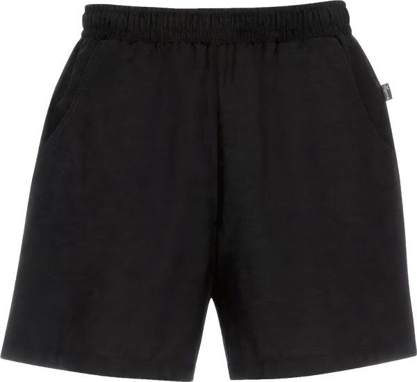 Shorts aus reiner Baumwolle - schwarz
