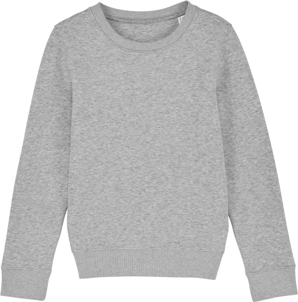 Kinder Sweatshirt aus Bio-Baumwolle - heather grey