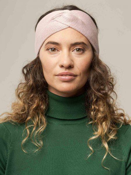 Fairtrade Stirnband Meena aus Bio-Baumwolle - rose