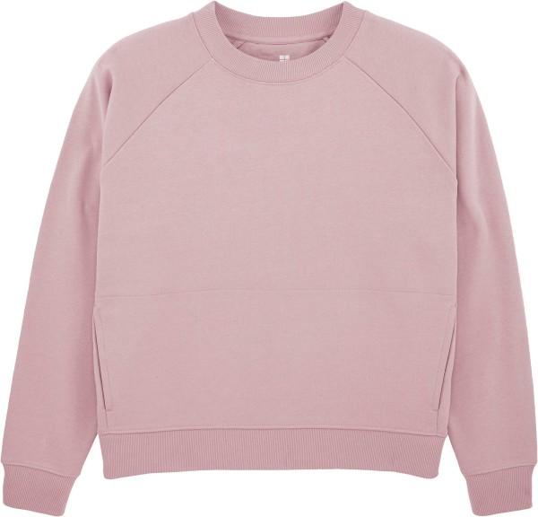 Kurzes Raglan-Sweatshirt aus Bio-Baumwolle - lilac peak