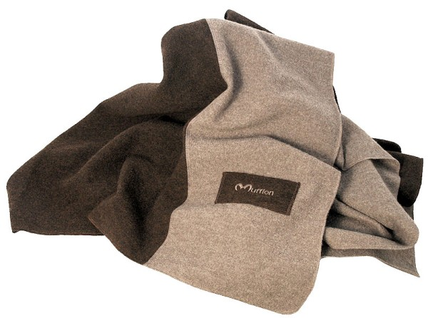 Wolldecke Blanket - Made in Germany - brown/stone - Bild 1