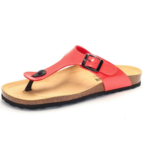 Flache Sandale Damen koralle 101671