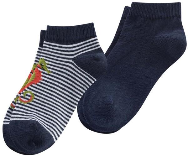 Kinder Sneaker-Socken Bio-Baumwolle - navy/white