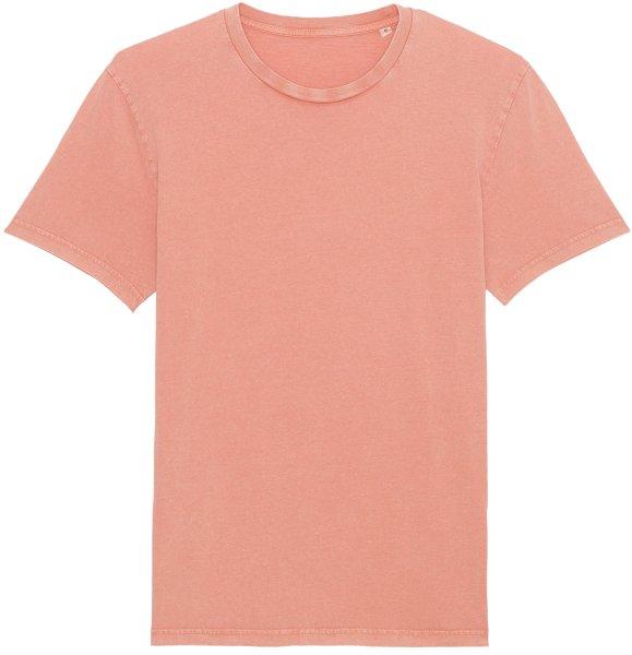 Vintage T-Shirt aus Bio-Baumwolle - g. dyed aged rose clay