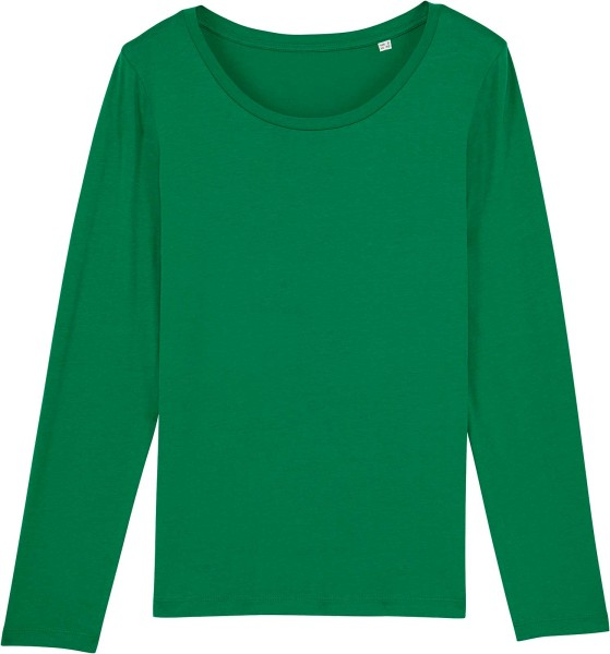 Longsleeve aus Bio-Baumwolle - varsity green