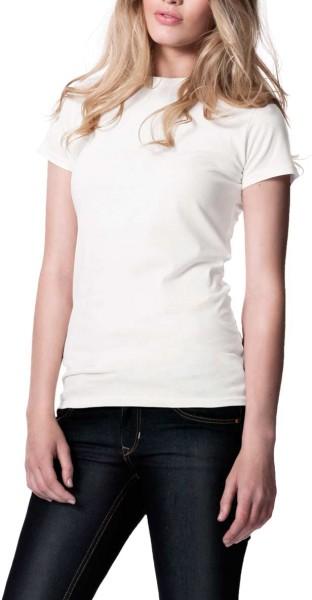 Organic Slim-Fit T-Shirt weiss - Bild 1