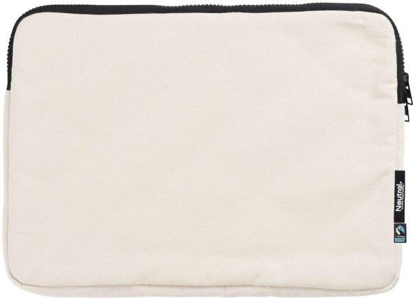 """13"""" Notebook-Tasche aus Fairtrade Biobaumwolle natur"""