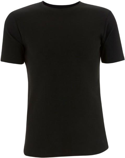 Herren T-Shirt schwerer Stoff schwarz N03B