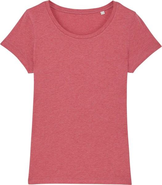 Jersey-Shirt aus Bio-Baumwolle - heather cranberry