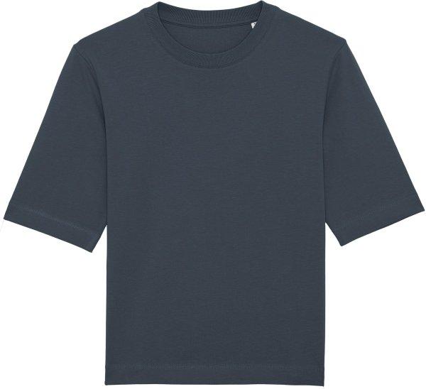 Boxy T-Shirt aus schwerem Stoff aus Bio-Baumwolle - india ink grey