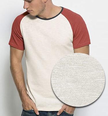Contrasts - Baseball T-Shirt aus Bio-B. - vintage red - Bild 1