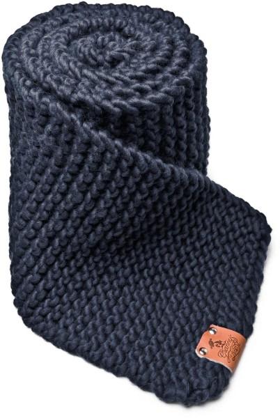 Strickschal aus Schurwolle - denimblauw
