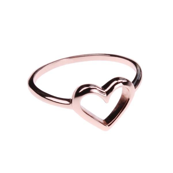 Herz Ring I – rosé vergoldet