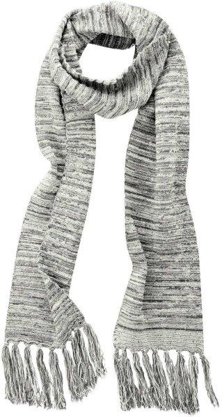Fransenschal aus Bio-Baumwolle und Hanf - melange grey - Bild 1