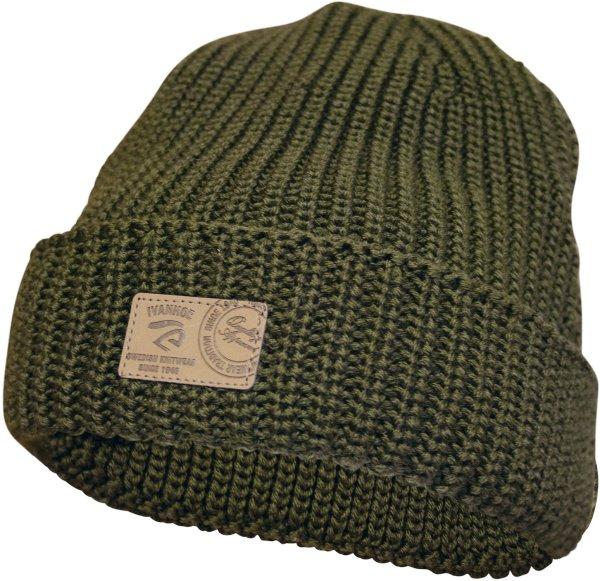 ECO Oak - Mütze mit Umschlag aus Wolle - forest green