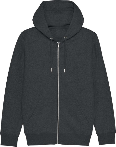 Kapuzenjacke aus Bio-Baumwolle - dark heather grey