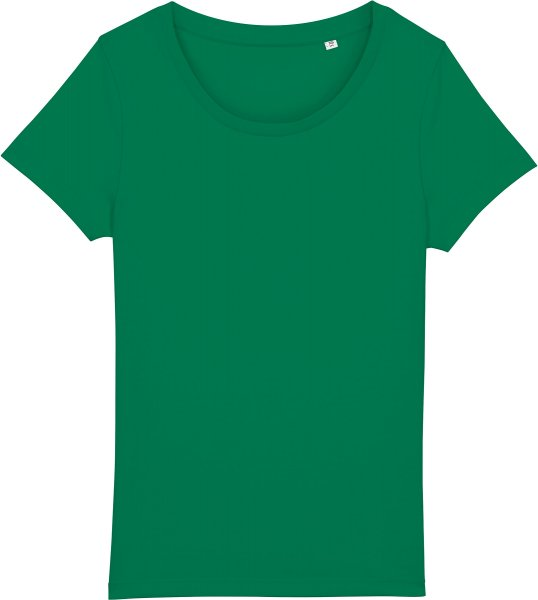 Basic T-Shirt aus Bio-Baumwolle - varsity green