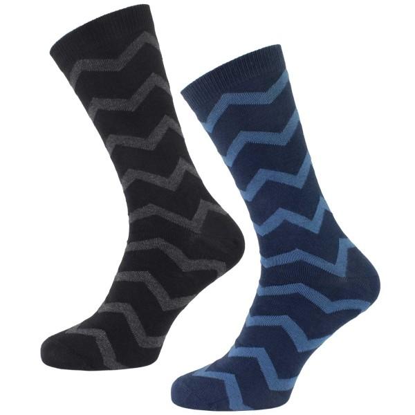 Socken aus Bio-Baumwolle - 2er-Pack - gemustert