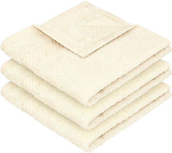 Handtuch aus Bio-Baumwolle 3er-Pack - 30x30 natur - Bild 1