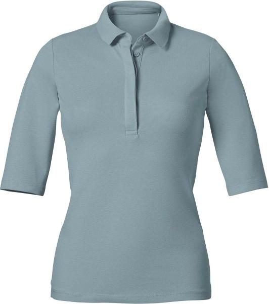Delights - Halbarm-Poloshirt aus Biobaumwolle - citadel blue
