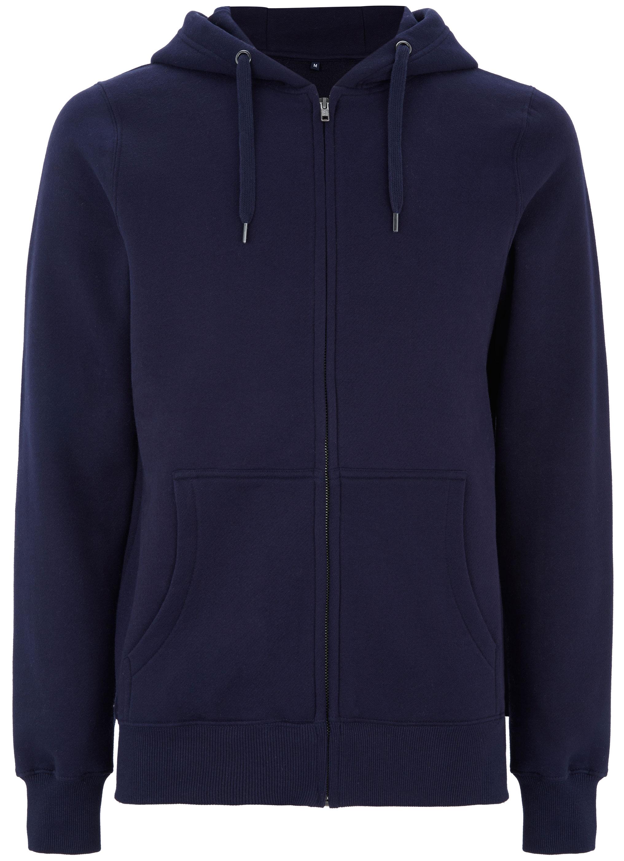Hochwertige Sweatjacke aus Baumwolle in navy  