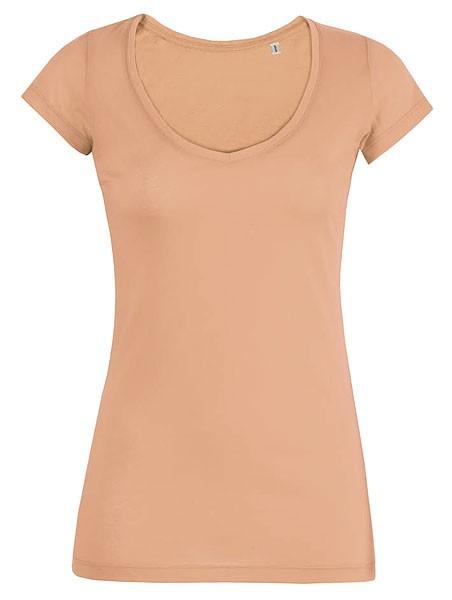 Smiles - Leichtes V-Neck T-Shirt aus Bio-Baumwolle -peach - Bild 1