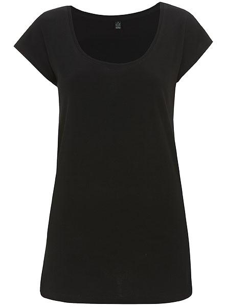 Organic Tunic T-Shirt schwarz - Bild 1
