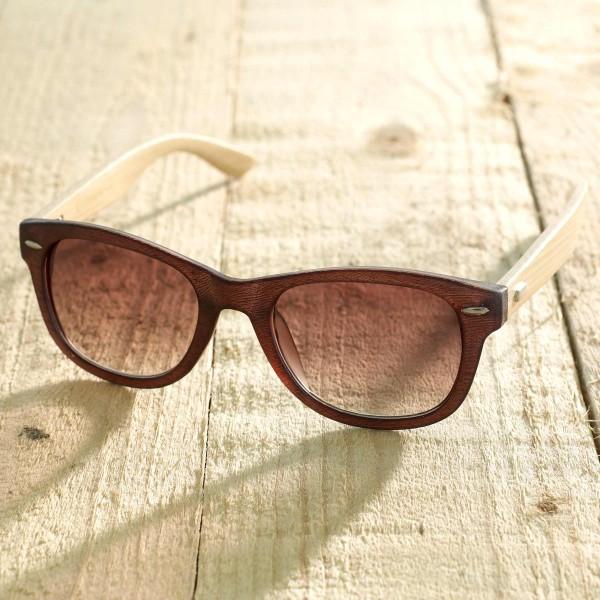 Trento - Sonnenbrille aus recyl. Kunststoff & Bambus - brown - Bild 1