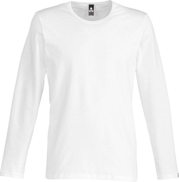 Langarmshirt aus Baumwolle & Elastan - weiss - Bild 1