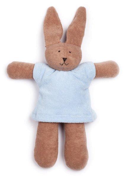 Frotteetier Hasi - Puppe aus Bio-Baumwolle - hellblau - Bild 1