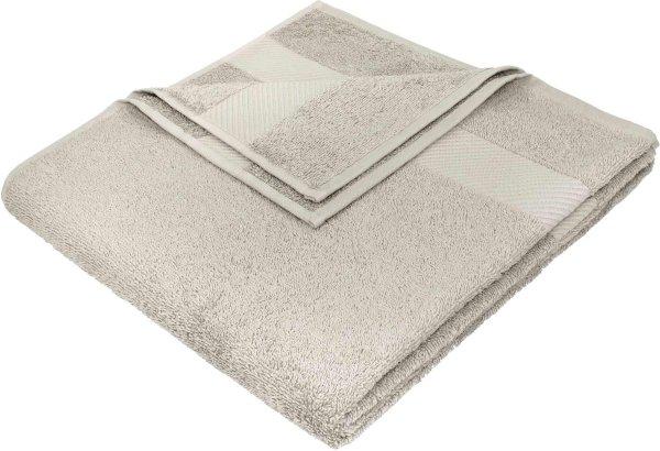 Badetuch aus Bio-Baumwolle - 70x140 beige - Bild 1