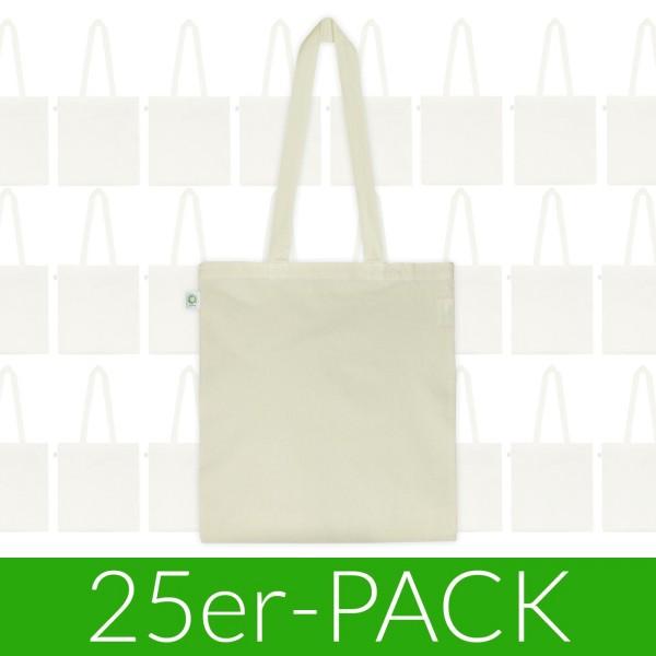 Fairtrade Tasche aus Bio-Baumwolle - natur - 25 Stück