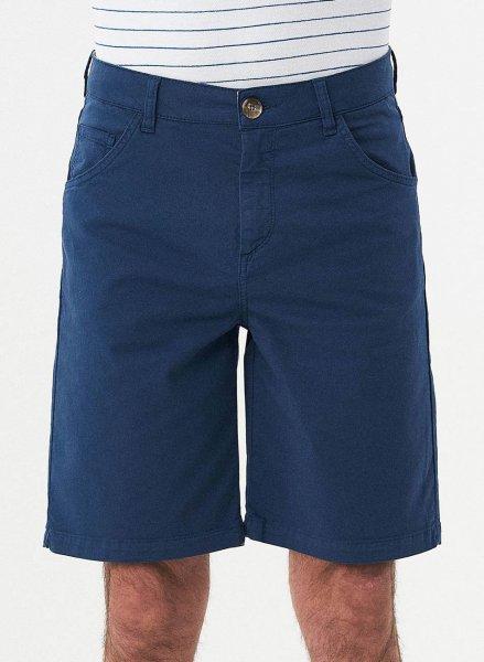 Regular Fit Shorts aus Bio-Baumwolle - navy