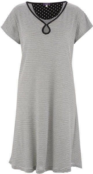 Nachthemd aus Bio-Baumwolle – offwhite/stripes