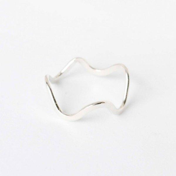 Curvy Ring aus recyceltem Silber