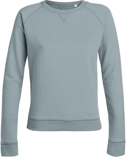 83ee09a4f261c3 Hochwertiger Damen Pullover aus Bio-Baumwolle stahlblau | grundstoff.net