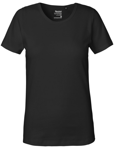 Neutral fairtrade bio shirt damen schwarz ne81029