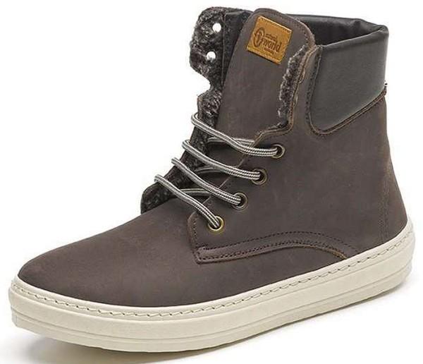 Bota Alta Cuello Nobuk - Nubukleder-Schuhe gefüttert - marron - Bild 1