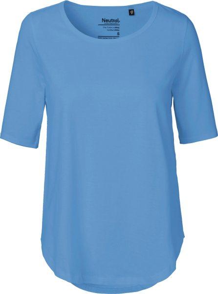 Half Sleeve T-Shirt aus Bio-Baumwolle Fairtrade - dusty indigo