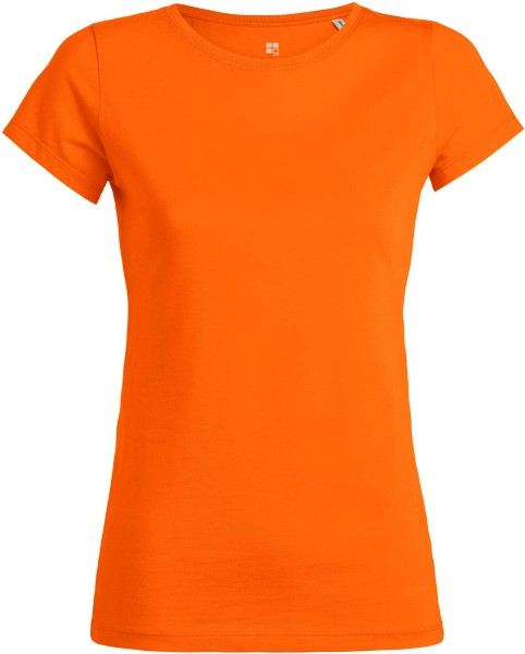 T-Shirt aus Bio-Baumwolle - bright orange