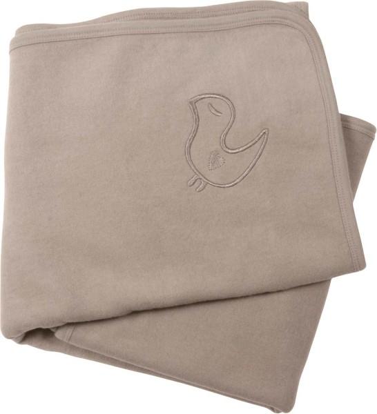 Baby Fleece-Decke aus Bio-Baumwolle - taupe