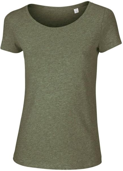 Loves - Jerseyshirt aus Bio-Baumwolle - khaki-meliert - Bild 1
